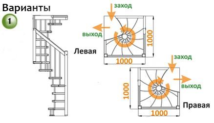 Лестница  ЛВ-1.0  П бук (5 уп.)