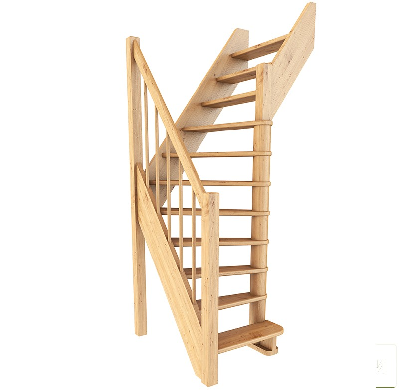 Лестница  ЛС-91м П, Базовая, сосна  (3 уп)