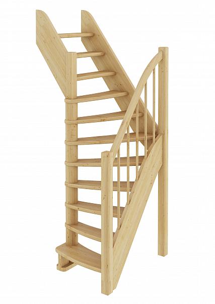 Лестница  ЛС-91м Л, сосна  (3 уп)