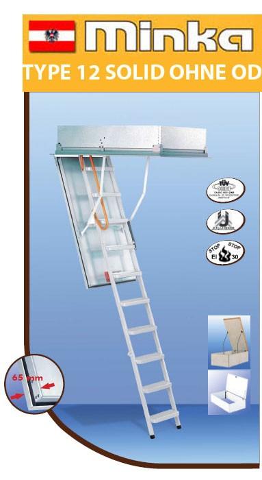 Лестница чердачная MINKA Type 12 Solid 120х70